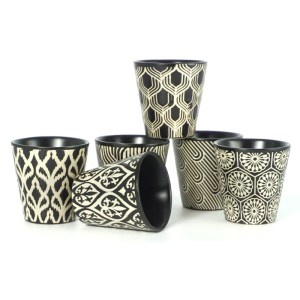 Gobelets céramique noir blanc Etxe Mia!