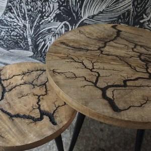 Table basse manguier sculpté Etxe Mia!