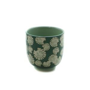 Gobelet fleurs vert foncé Etxe Mia!