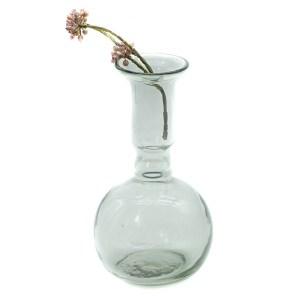 vase verre rond transparent