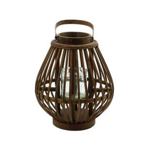 lanterne en rotin foncé Etxe Mia!