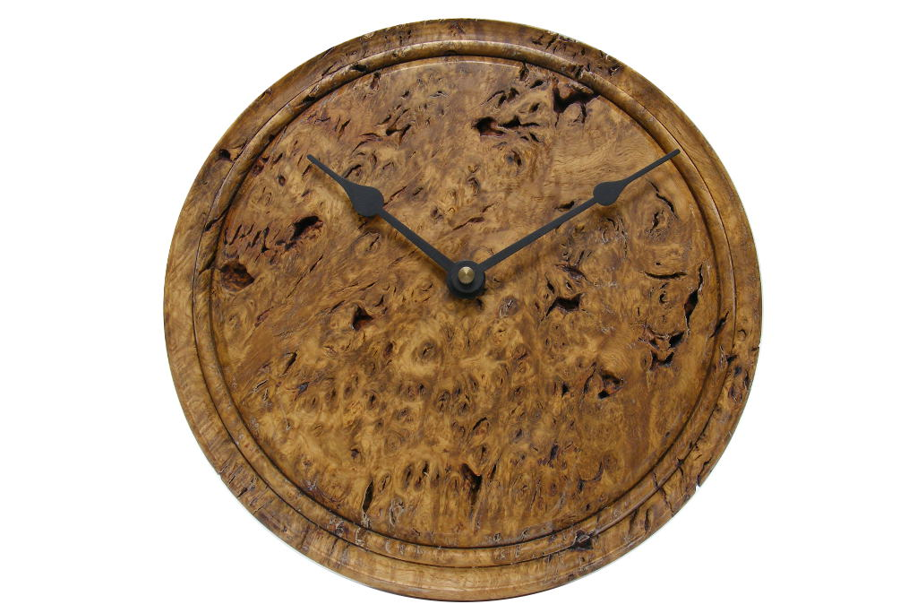 Oak Root 3 Wooden Wall Clock- Rustic Kitchen Wall Clock