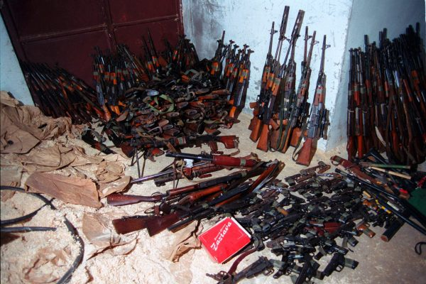 Weapons confiscated from the Kosovo Liberation Army
