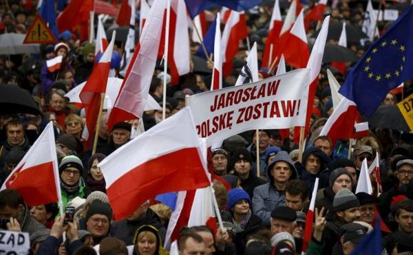 Protest again law and justice party in Poland