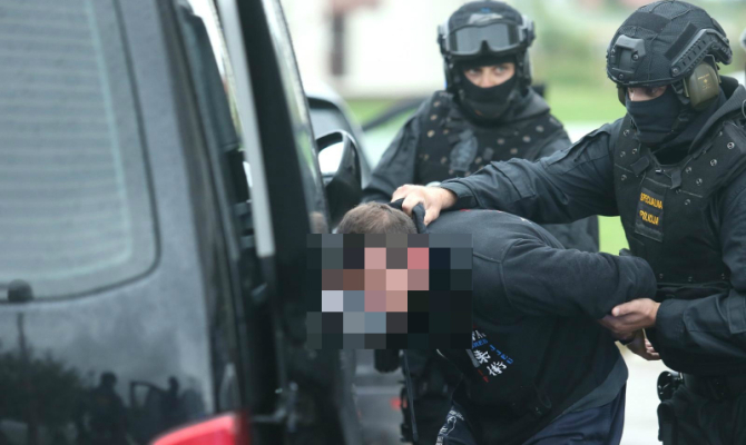 Claudio D'Este being arrested by Croatian police on foot of an Italain arrest warrant on New Year's Eve