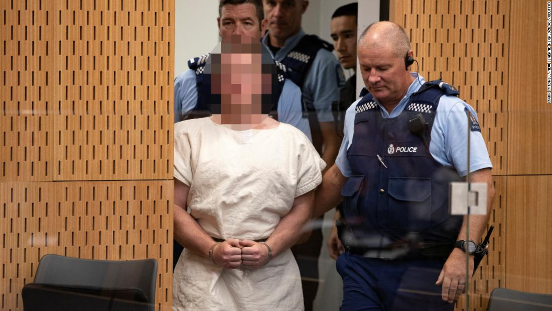 Christchurch shooting being brought into court in handcuffs
