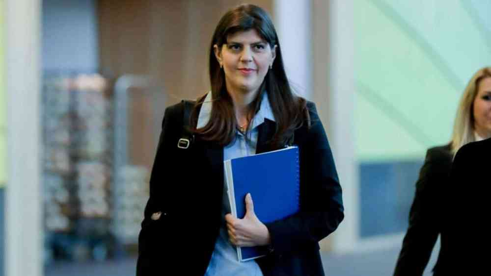 Laura Codruta Kovesi before Tuesday's hearing in the European Parliament in Brussels.