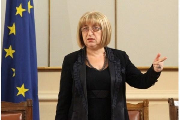 Bulgaria's Justice Minister, Tsetska Tsacheva