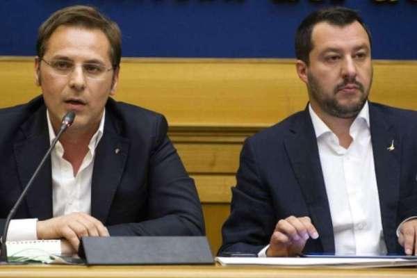 Italain Transport Undersecretary Armando Siri, seen here with Interior Ministerr Matteo Salvini, has been dismissed amid corruption allegations