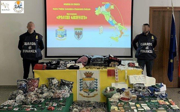Massive operation against counterfeit goods nets 30 suspects and millions of products