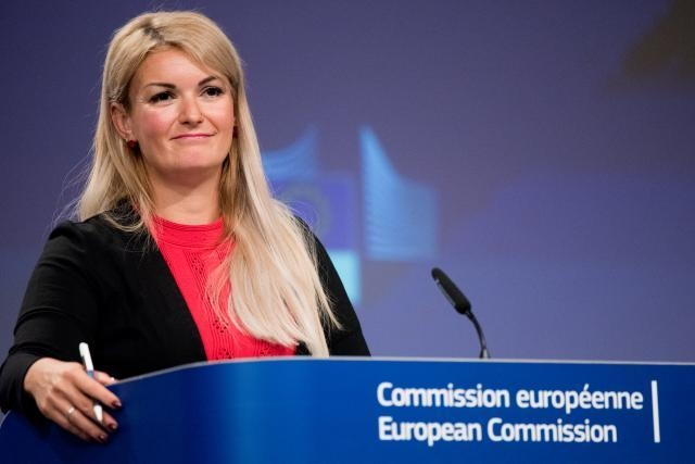 EU Commission spokesperson Mina Andreeva