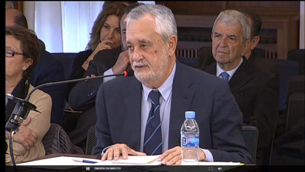 Former Andalucían regional president José Antonio Griñán at the trial - EFE