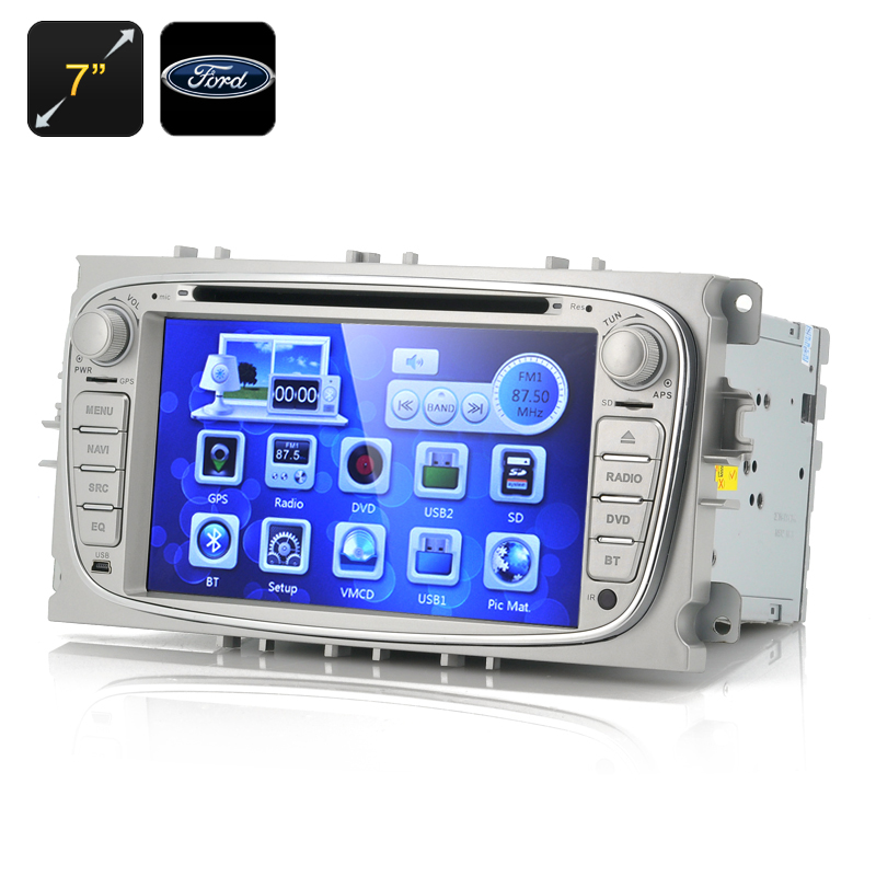 7 Inch Screen Car DVD Player 'Blunt' - For Ford Focus 2009-2012, 1080p, GPS, Bluetooth (2 DIN)