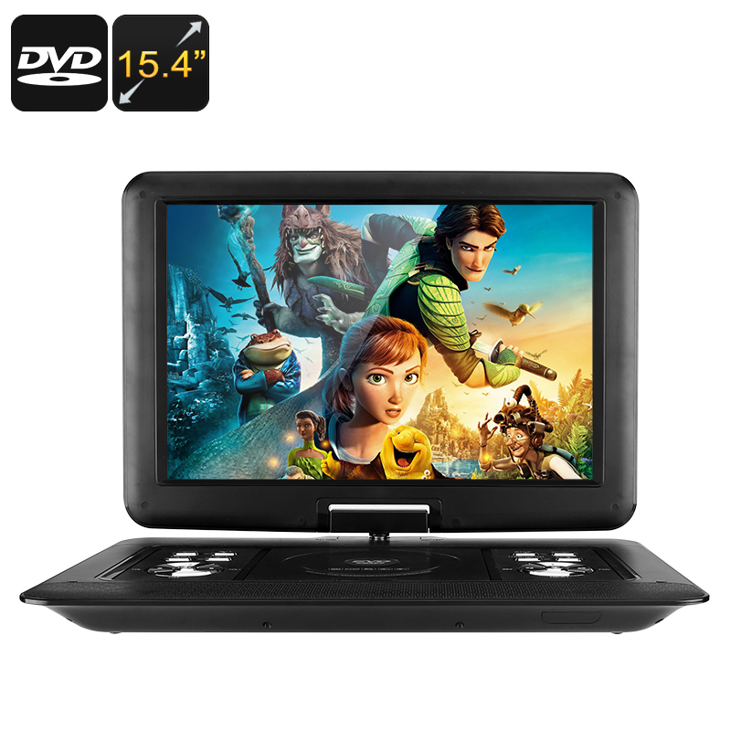 15.4-Inch Portable EVD / DVD Player - Universal Disc Support, Game Play, FM Radio, E-Book, Analog TV, Screen Rotation