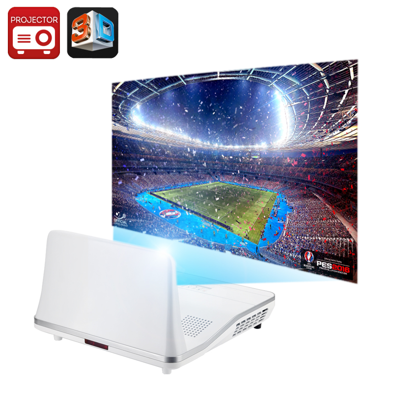 301 Max Short Throw 2000 Lumen Projector - Android OS, 12000:1 Contrast Ratio, Keystone correction