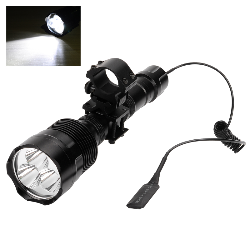3800 Lumen LED Flashlight - 3x CREE XM-L2 T6 LED, 6061-T6 Aluminum Alloy, 5 Modes