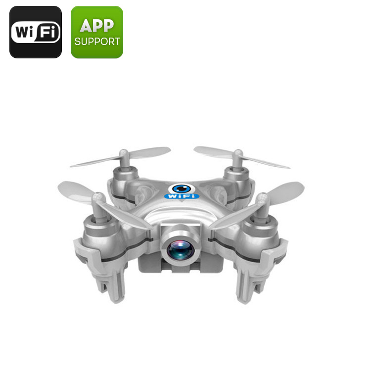 CX-10W Mini Drone - 6-Axis Stabilizing Gyro, 0.3MP Camera, Wi-Fi, 15 To 30M Range, Android & iOS Compatible, FPV