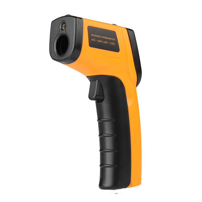 Non-Contact Infrared Thermometer – Wide Temperature Measuring Range of Minus 50°C To 380°C, LCD Screen, Backlight