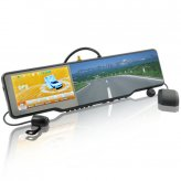 Complete Car Bluetooth Rearview Mirror Kit (Touchscreen, GPS, DVR, Wireless Camera, Media Player)
