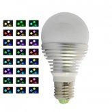 LED Color Changing Light Bulb - 16 Color LED Lamp with Remote Control (3W)