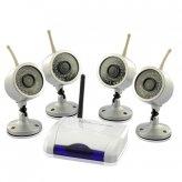 Wireless Home Surveillance Kit with 4x Weatherproof and IR Nightvision Cameras (PAL)