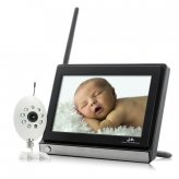 Baby Monitor - Monitor Buddy - Wireless, Widescreen 7 Inch LCD, Night Vision Camera