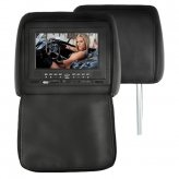 7 Inch Headrest DVD Player with Emulator + FM Transmitter (Pair)