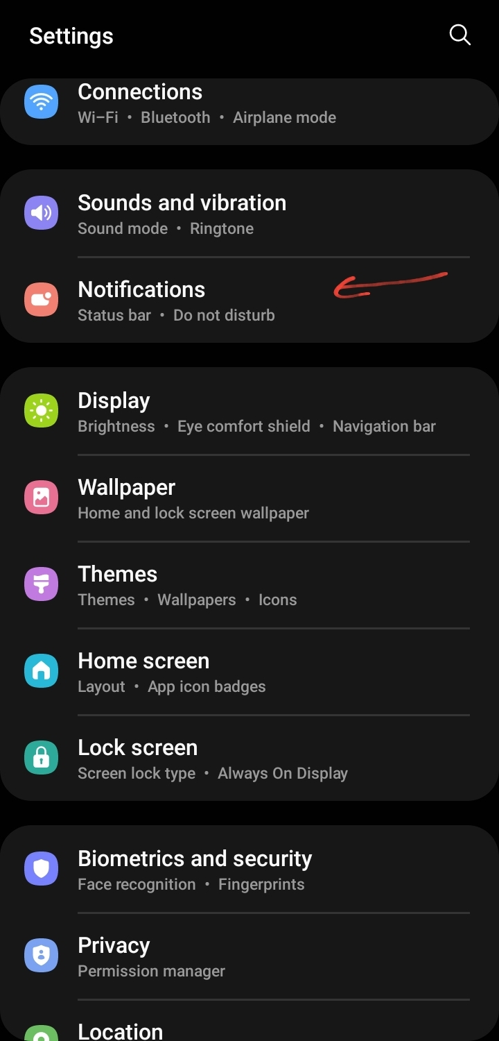 edge lighting not working after android