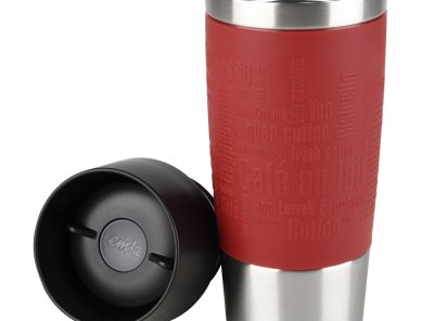 Emsa Insulated Travel Mug 0.36 L with Sleeve - Red