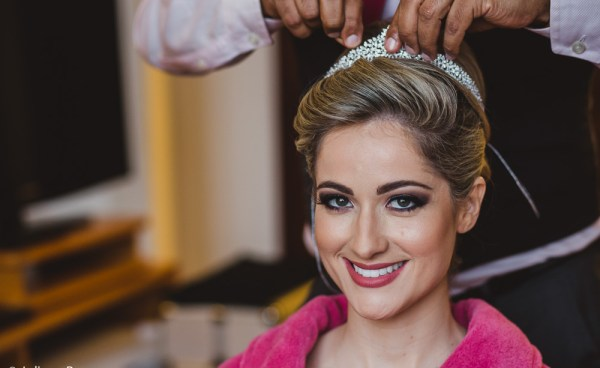Noiva maquiada por Aureo de Sá. Foto: Juliana Pessoa Fotografia
