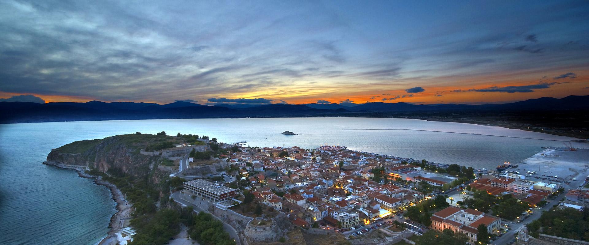 Nafplio town sunset - Private tours Athens Greece