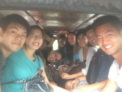 We took up an entire jeepney! What an experience sitting in one of these things!