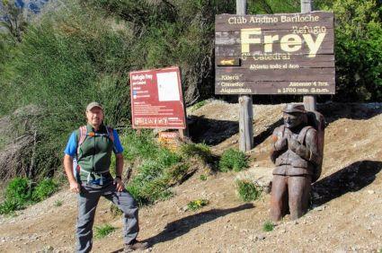 Início da trilha do Refúgio Frey