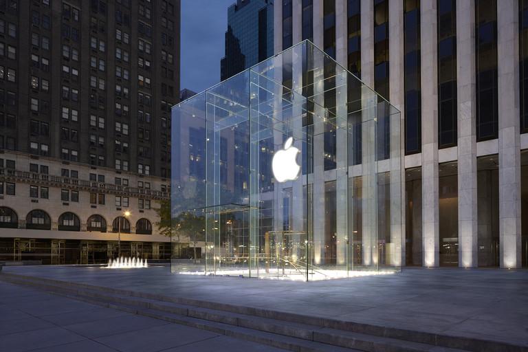 compras em new york apple vidro