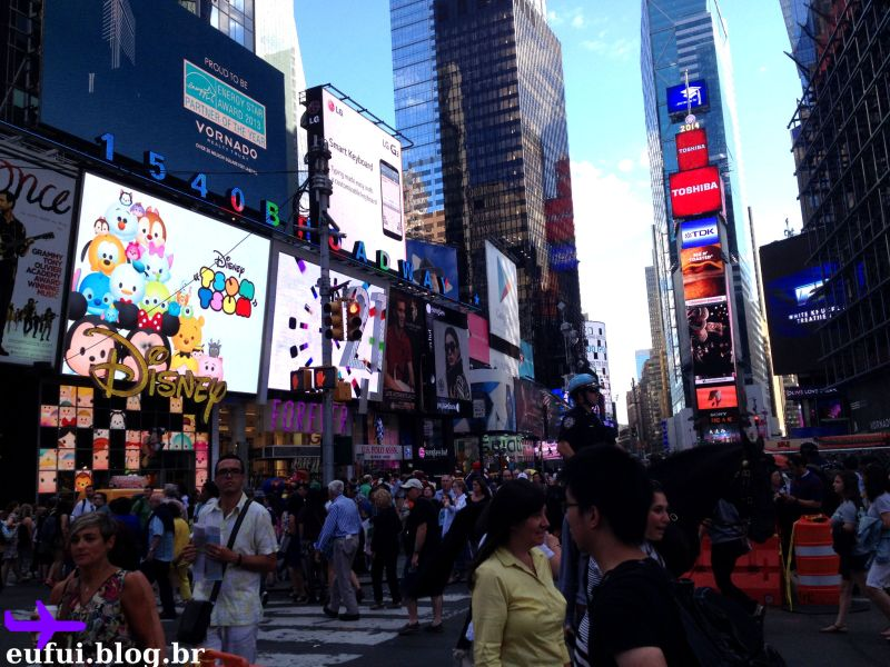 ruas de new york times square