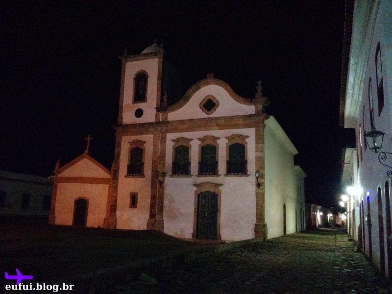 paraty rio de janeiro igreja noite