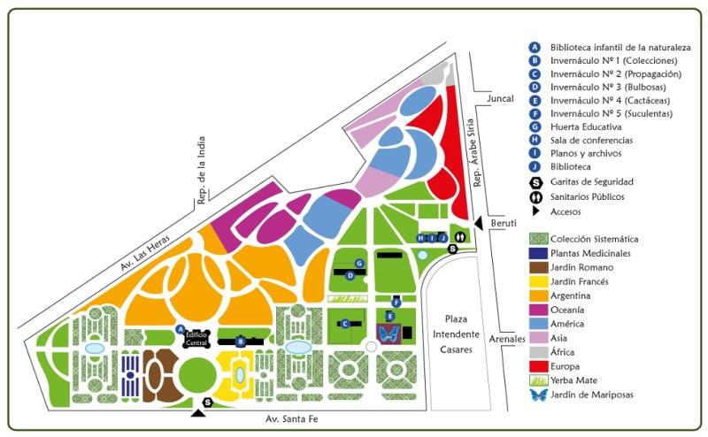 jardim botanico de buenos aires argentina mapa