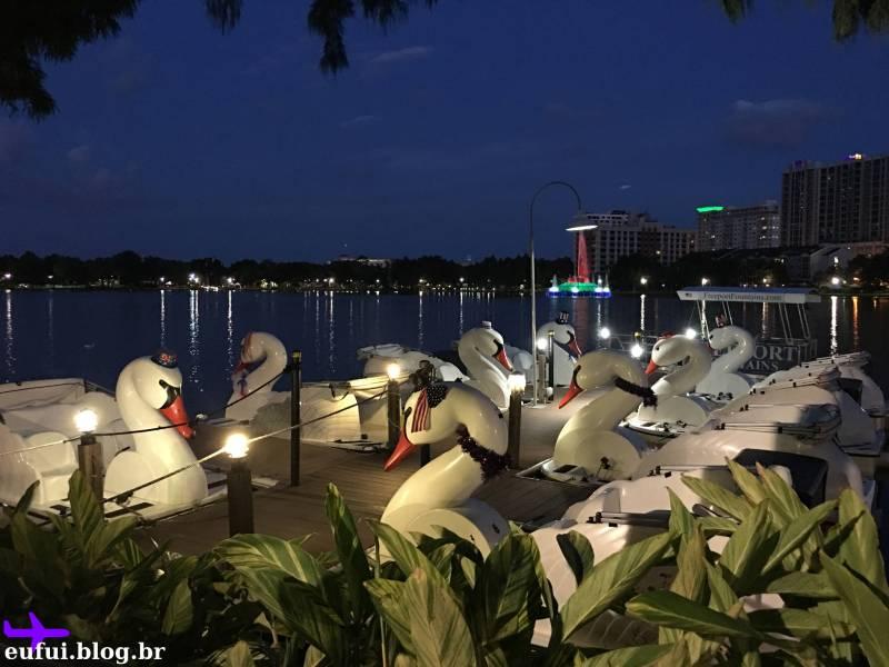lake eola downtown orlando florida pedalinho