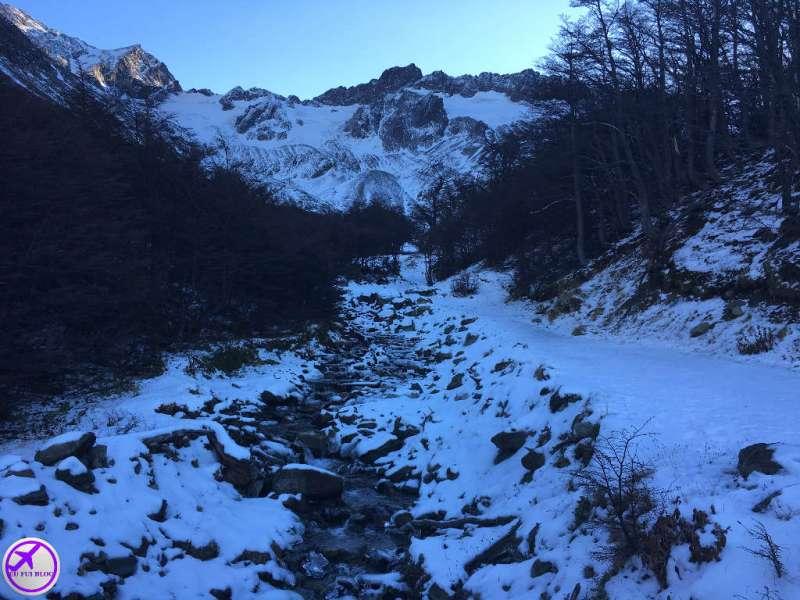Rio de Degelo do Glaciar Martial em Ushuaia - Terra do Fogo