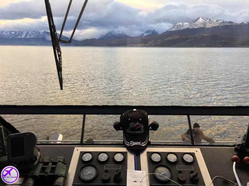 Navegação Canal do Beagle em Ushuaia - Tolkeyen Patagonia - Cabine do Capitão
