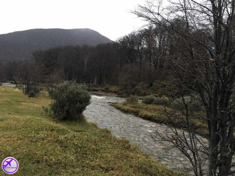 Margem do Rio Olivia - Filme o Regresso em Ushuaia - Argentina
