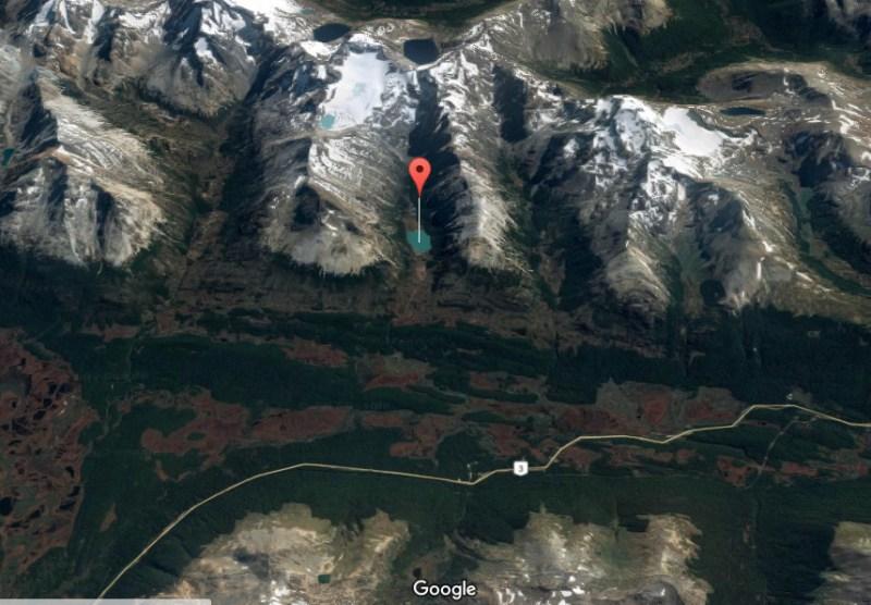Laguna Esmeralda em Ushuaia - Terra do Fogo - Mapa