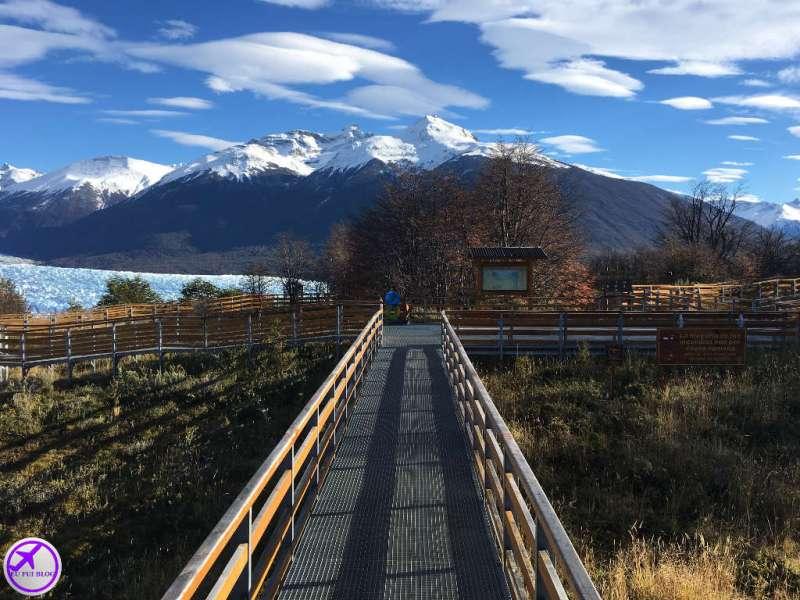Passarela Nativos de la patagonia do Glaciar Perito Moreno em El Calafate - Argentina