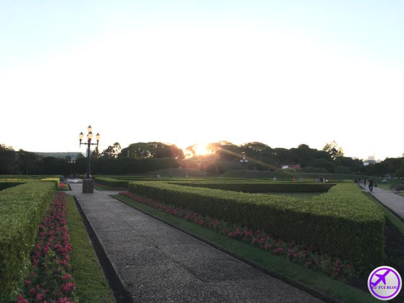Por do Sol no Jardim Botânico de Curitiba - Paraná