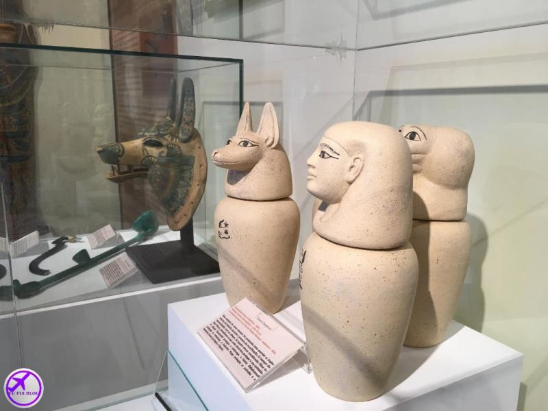 Jarros no Museu Egípcio de Curitiba - Paraná