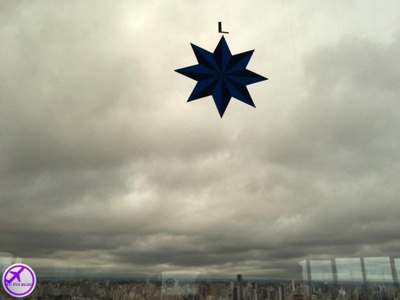 Rosa dos Ventos nas janelas da Torre Panorâmica de Curitiba