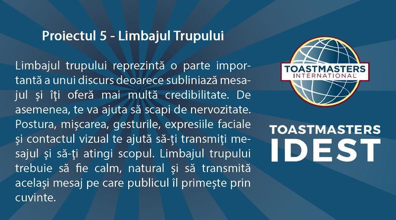Limbajul corpului Proiect 5 - În construcţie! -Toastmasters 5
