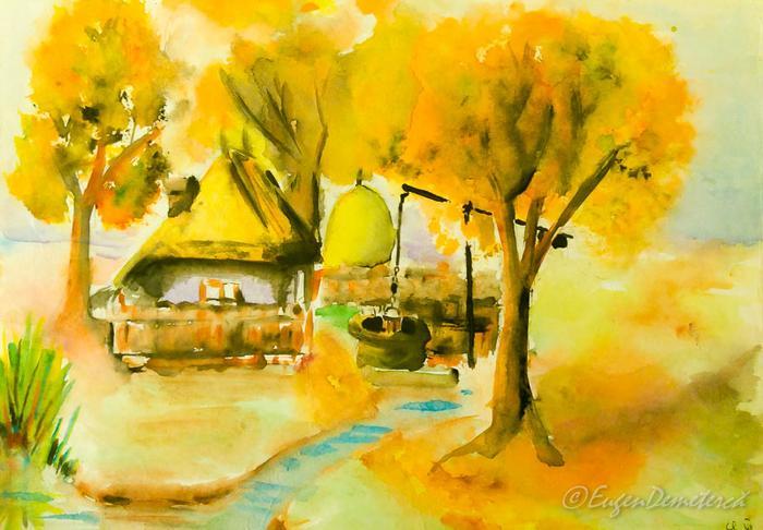 Peisaj aquarela - Călătoria, cea mai bună alegere pentru dezvoltare personală