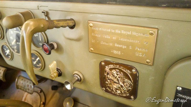 Jeep ul regelui Mihai detaliu donatie genaralul Patton - Paştele Regal la Săvârşin
