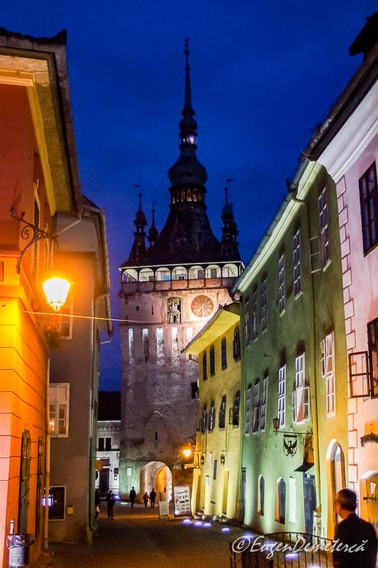 Turnul cu ceas din Sighisoara noaptea